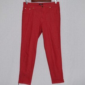 IMAN Red Skinny Jeans Size 10S